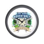 Lost Island Adventures Wall Clock