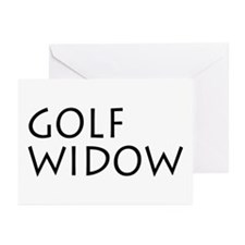 GOLF WIDOW Greeting Cards (Pk of 10)