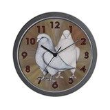 French Mondain Pigeons Wall Clock