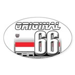 Musclecar 66 H Sticker (Oval)