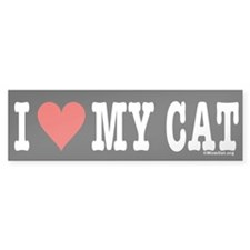 Unique Cat human Bumper Sticker