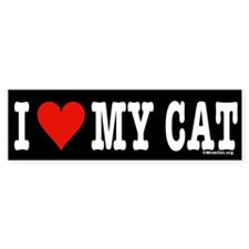 Funny Alley cats Bumper Sticker