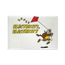 Electricity Rectangle Magnet