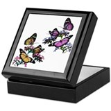 Butterflies and Blossoms Keepsake Box