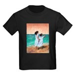 Girls Looking Out to Sea Kids Dark T-Shirt