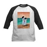 Girls Looking Out to Sea Kids Baseball Jersey