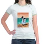 Girls Looking Out to Sea Jr. Ringer T-Shirt