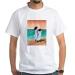 Girls Looking Out to Sea White T-Shirt