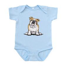 Cute English Bulldog Infant Bodysuit