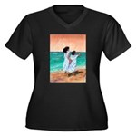 Girls Looking Out to Sea Women's Plus Size V-Neck