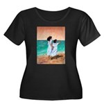 Girls Looking Out to Sea Women's Plus Size Scoop N