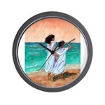 Girls Looking Out to Sea Wall Clock