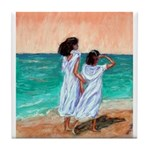 Girls Looking Out to Sea Tile Coaster