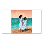 Girls Looking Out to Sea Sticker (Rectangle 50 pk)