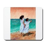 Girls Looking Out to Sea Mousepad