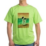 Girls Looking Out to Sea Green T-Shirt