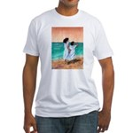 Girls Looking Out to Sea Fitted T-Shirt