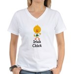 Irish Chick Women's V-Neck T-Shirt