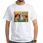 Angels with Yorkie White T-Shirt