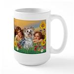 Angels with Yorkie Large Mug