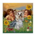 Angels with Yorkie Tile Coaster