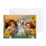 Angels with Yorkie Greeting Cards (Pk of 10)