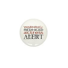 Warning: Redhead Actress Mini Button (10 pack)