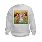 Angels with Yorkie Kids Sweatshirt