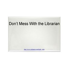 Don't Mess With the Librar Rect Magnet 100 pk