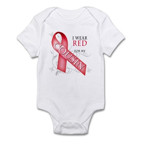 I Wear Red for my Cousin Infant Bodysuit