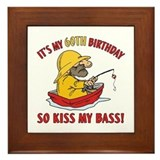 Fishing Gag Gift For 60th Birthday Framed Tile