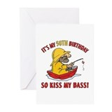 Fishing Gag Gift For 50th Birthday Greeting Cards