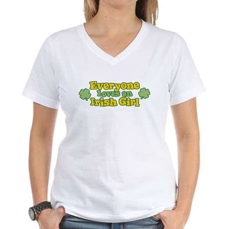 Irish Girl Womens V-Neck T-Shirt