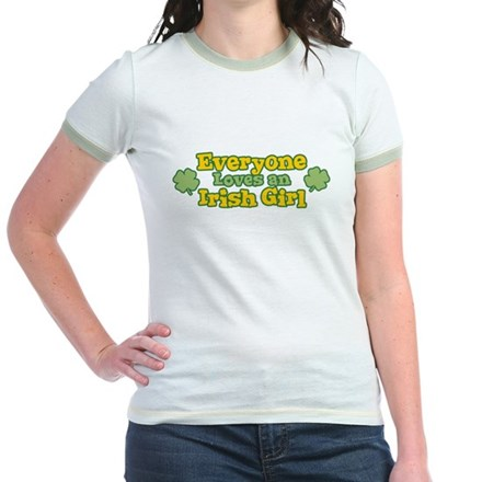 Irish Girl Jr Ringer T-Shirt