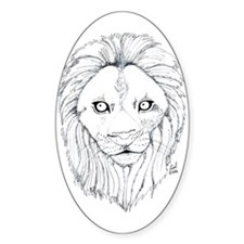 Lion Oval Decal