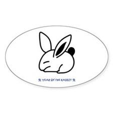 Year of the Rabbit Oval Decal