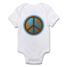 Peace Sign Earth Day Infant Bodysuit