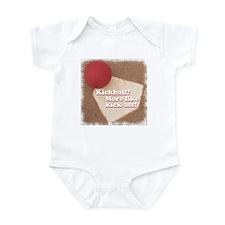 Kickball/Ass Infant Bodysuit