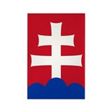 Slovak Emblem Rectangle Magnet (10 pack)