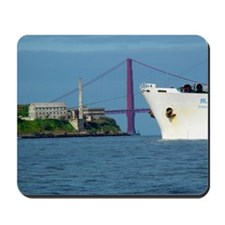 Golden Gate Bridge Alcatraz Ship Bow Mousepad