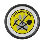 Rockhound Large Wall Clock