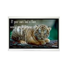 Tiger Coat Rectangle Magnet (10 pack)