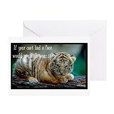 Tiger Coat Greeting Cards (Pk of 20)