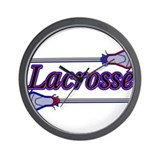 Lacrosse Sticks Wall Clock