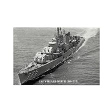 USS WILLARD KEITH Rectangle Magnet