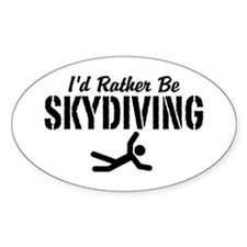I'd Rather Be Skydiving Decal