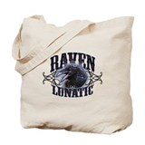 Raven Lunatic Gothic Tote Bag