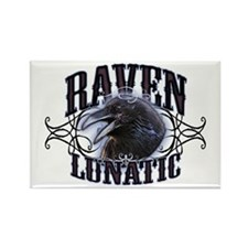 Raven Lunatic Gothic Rectangle Magnet