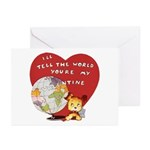 Retro Valentine's Day Greeting Cards (Pk of 10)