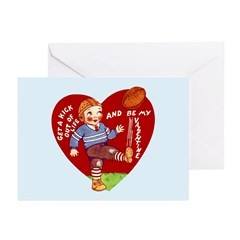 Retro Valentine's Day Greeting Cards (Pk of 10)